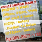 Foto 2feb15 Harga Naik, New Student Apartment 200jutaan