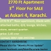Picture 2750 ft, 3rd floor (top) apartment is available...