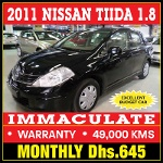 Photo Black nissan tiida- 2011