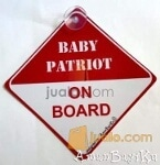 Foto Baby Patriot ON BOARD car sign - Tempelan kaca...