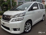 Foto Vellfire 2014 V White On Beige Interior Mewah...