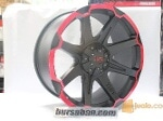Foto Velg Tuff T05 Matt Black Red Edge