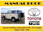 Foto Manual Book Toyota Hardtop Land Cruiser Fj40 /...