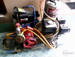 Foto Mesin Cuci Steam Set Dan Compressor Snow