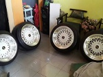 Foto Bbs rs r17 + ban (warna white polish)