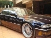 Foto BMW 740i 94 biru sunroof interior beige