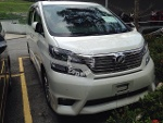 Picture 2010 toyota vellfire 8 seater sunroof