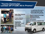 Picture Toyota Commuter Lowest DP.