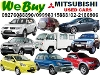 Picture We Buy Mitsubishi Cars Van Pick-Up AUV SUV