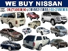 Picture We Buy Nissan Cars Van Pick-Up SUV