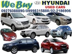 Picture We buy HYUNDAI Cars, Vans, Pick-Ups and SUVs