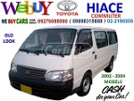 Picture Toyota Hiace Commuter Old Look