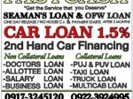 Picture 2nd hand car financing 1.3% at low down payment...