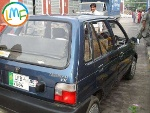Picture Suzuki mehran metallic blue 2008 model: